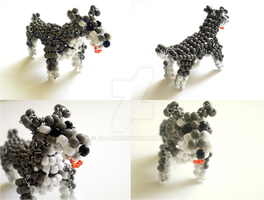 Beaded Schnauzer by Ala-Rai