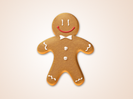 gingerbread man icon - free psd by nelutuinfo