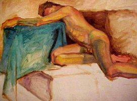 Male Nude on Couch by adversary1