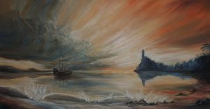 Sunset Oil Painting by RobbieMcSweeney