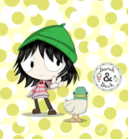Sarah and Duck by XxLuXesCroWxX