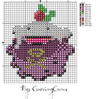 Koffing Pudding pattern by eveningemma