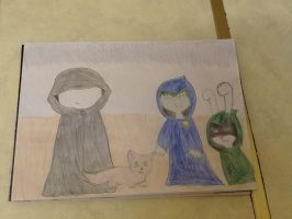 Mirror saw BeastBoy and Raven by extraphotos