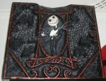 Jack Skellington bas relief by dischordiasnightmare