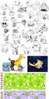 PKMN Sketch Dump by It-is-a-circle