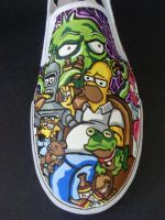 Futurama The Simpsons Crossover shoes - Homer by rachelliles352