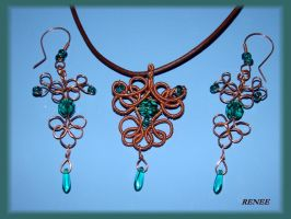 Emerald copper set by jasmin7