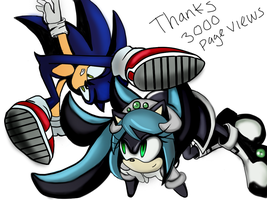 Sonic the hedgehog and mana fight by Gabriel-black-cat