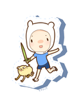 Chibi Mone Finn And Jake ~Page Doll~ by monechou