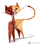 Daily Painting 770. Paper Cheetah by Cryptid-Creations