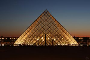 Pyramid at Night by AyseSelen