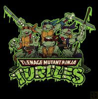 Zombie Ninja Turtles by Holden-Hostetler