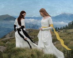 Morgause and Elaine by Sophia-Christina