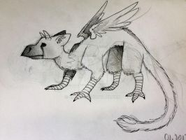 Sketch   Trico from The Last Guardian by siarczi