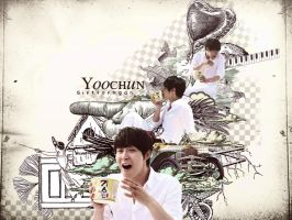 Wallpaper Yoochun- Gift for Ngan by bibi97nd