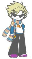 Plaid Scarf Dirk by neooki23