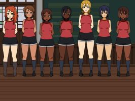 Volleyball squad by seseta