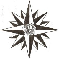 Navy Compass Rose Star by TheLob