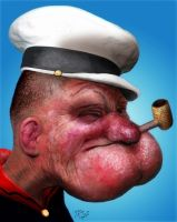 Popeye Photorealism by Spauldron