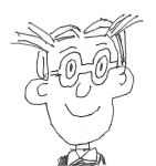 Dagwood Bumstead wearing glasses by dth1971