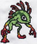 I am Murloc - Cross-stitch by MinaThomas