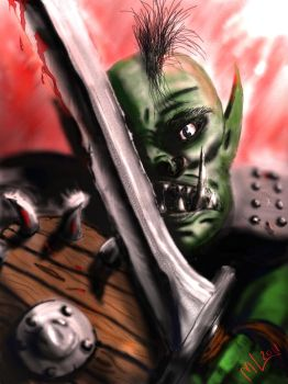 Orc On The Ready by Mikejl