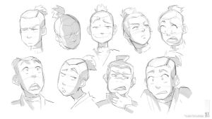 Sokka :Head/Face Studies: by moxie2D