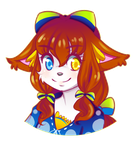 Bust coloured Sketch: Lychee by the-electric-mage