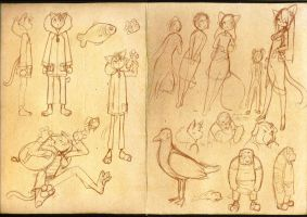 Sea Lion sketch page one by CookingPeach