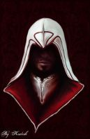 Ezio Auditore speed portrait by Kudrik