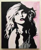 Debbie Harry painted portrait by theartknife