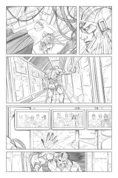 Teen Titans: page 2 pencils by Shono