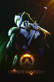 Genji Shimada (Overwatch) by PaintIsPainful
