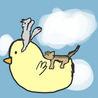 We are riding on Gilbird by Ask--Prussiacat