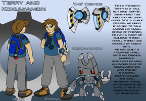 Terry and Kokuwamon: Ref by Terrichance
