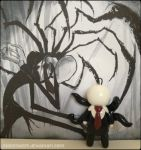 Chibi Charms: Slender Man by Marielishere