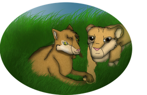 Kitten and a lion cub request for animebaby1223 by Varjokani