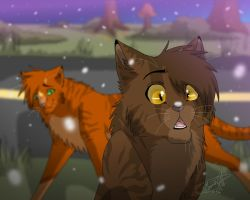 First sight of snow by Mana-ghostwolf