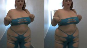 3d Busty BBW Tight Blue Web by 3dpinup