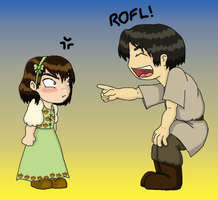 ASOIAF Chibis: Arya and Gendry by Regendy