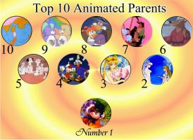 Top 10 Animated Parents by UlisaBarbic