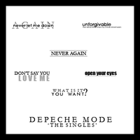 Depeche Mode textbrushes 2 by ghostgoodthing