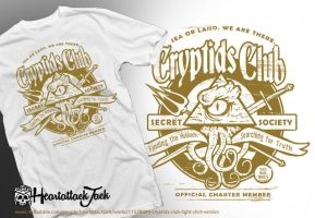Cryptids Club (Light Shirt Version) by Heartattackjack