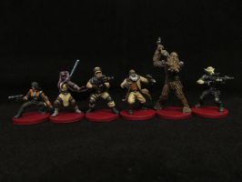 Imperial Assault Characters by Indefiknight