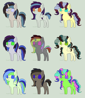 Pony Pallete Adopts! by Bella-Brownies
