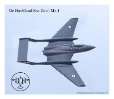 De Havilland Sea Devil Mk. I by Bispro