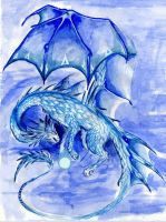 Blue Orb Dragon by BlazeTheConqueror