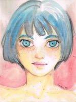Blue Haired by qhaqa