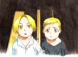 Little Elric Brothers by TamiiBe