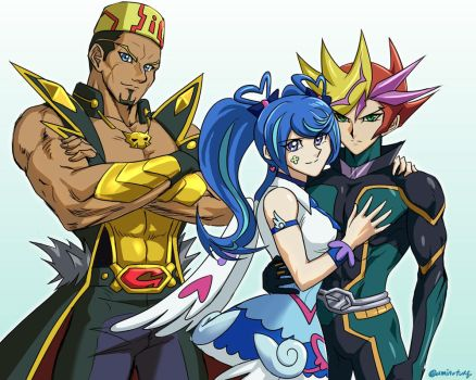 VRAINS Main Characters by Ycajal